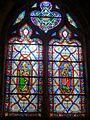 Andrésy (78), église Saint-Germain, 3e chapelle du sud, verrière n° 6.JPG
