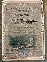 Andy Boiangiu PROF at Danylo Halytsky Lviv National Medical University.jpg
