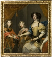 Anna Sofia, 1647-1717, princess of Denmark, electress of Saxony, her sons Johann Georg IV, 1668-1697, elector of Saxony, Friedrich August I / August II the strong, 1670-1733, elector of Saxony, king of Poland