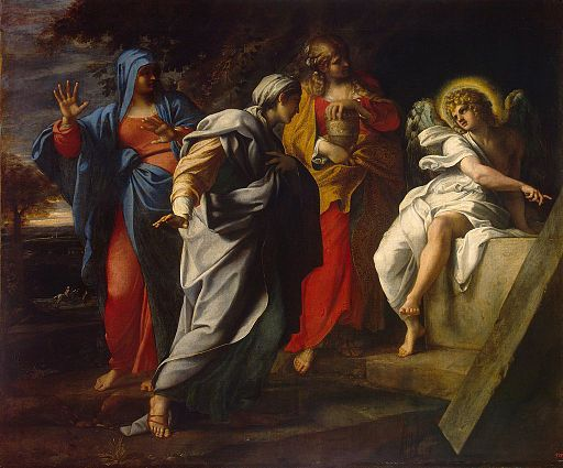 Annibale Carracci - Holy Women at Christ' s Tomb - WGA4454