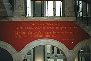 Hebban olla vogala - Wall poem in Leiden