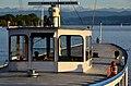 Ansicht auf die 'Brücke' des (ehemaligen) Motorschiffs 'Etzel' der Zürichsee-Schifffahrts-Gesellschaft (ZSG) - Alpenquai in Zürich 2012-09-28 18-28-32.JPG