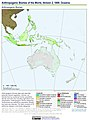 Anthropogenic Biomes of the World, Version 2, 1800 Oceania (13603332235).jpg