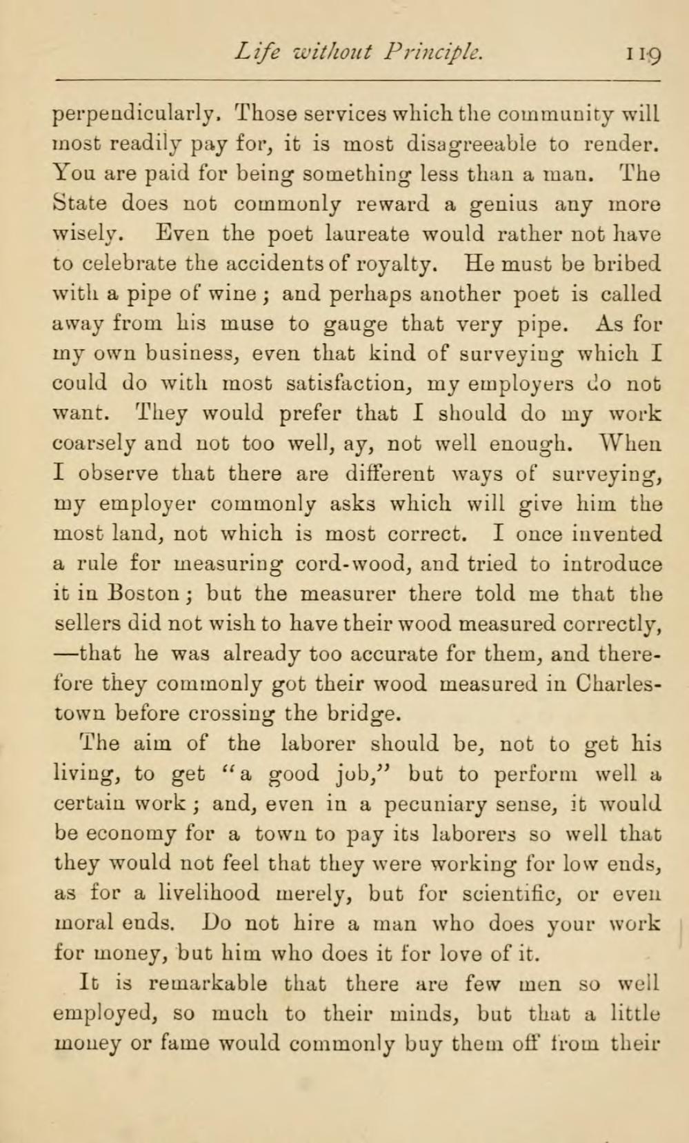 Henry david thoreau essay economy