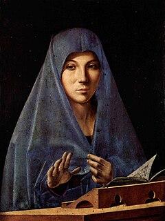 painting by Antonello da Messina in the Galleria Regionale della Sicilia