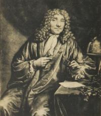 Antonie van Leeuwenhoek, a primeira pessoa a observar bact�rias usando um microsc�pio.