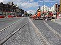 Anzin & Valenciennes - Travaux de raccordement des lignes A & B du tramway de Valenciennes à la Croix d'Anzin le 19 août 2013 (30).JPG