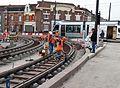 Anzin & Valenciennes - Travaux de raccordement des lignes A & B du tramway de Valenciennes à la Croix d'Anzin le 20 août 2013 (04).JPG