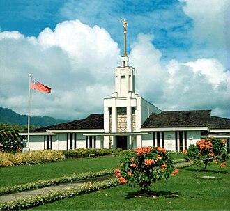 Apia Samoa Temple - Pre-fire temple