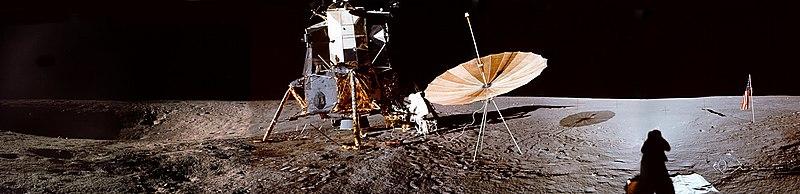 Il luogo dell'allunaggio dell'Apollo 12.