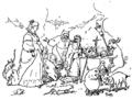 Arène - La vraie tentation du grand Saint Antoine - contes de Noël, 1880, illust 04.png