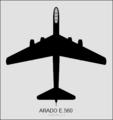 Arado E.560 (11) top-view silhouette.png
