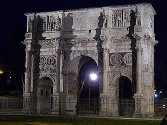 Arch of Constantine (Rome) night.jpg