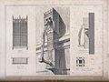 Architectural details of the hospital, Beaune. Line engravin Wellcome V0012206.jpg