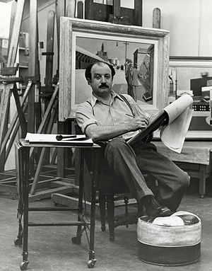 Francis Criss - Criss in his studio working on a sketch for Art Week for the New York City W.P.A. Art Project., 1940