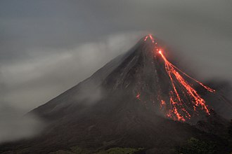 Alajuela Province - Arenal Volcano in La Fortuna of San Carlos remains active, and volcanic eruptions can be seen.