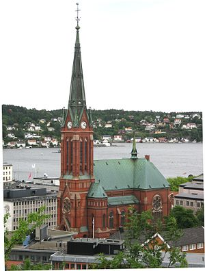 Trinity Church (Arendal) - View of the church