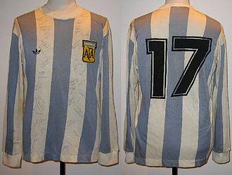 Miguel Oviedo - 1978 Miguel Ángel Oviedo №17 Argentina National Team World Cup Match Worn Jersey