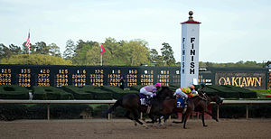 Oaklawn Racing & Gaming - Finish line at the 2013 Arkansas Derby