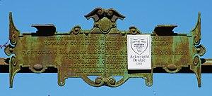 Arkwright Bridge - Historic Arkwright Bridge plaque