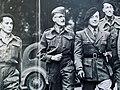 """Arrivée à Londres d'un groupe d'évadés français par la Russie, """"Les Russes"""" (septembre 1941). De gauche à droite, Jean-Louis Crémieux-Brilhac, Jean Richemond, Pierre Billotte, François Thierry-Mieg.jpg"""
