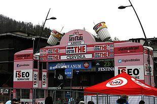 Il traguardo del Giro 2012