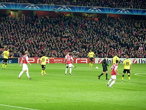 Premier League - Arsenal against Borussia Dortmund in the UEFA Champions League in 2011