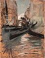 Artgate Fondazione Cariplo - Boldini Giovanni, Canale a Venezia con gondole.jpg