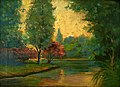 Arthur Timotheo da Costa (1882-1922), European landscape at sunset, 1911, oil on cardboard, 25,3 x 34,3cm, Photo Gedley Belchior Braga.jpg