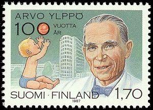 Arvo Ylppö - Arvo Ylppö portrayed on a postage stamp published in 1987.