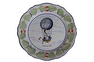 Étienne-Gaspard Robert - Commemorative 18th century plate