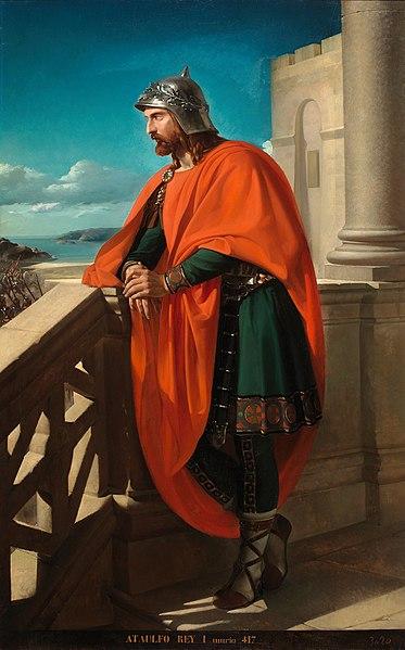 El lienzo representa a Ataúlfo.
