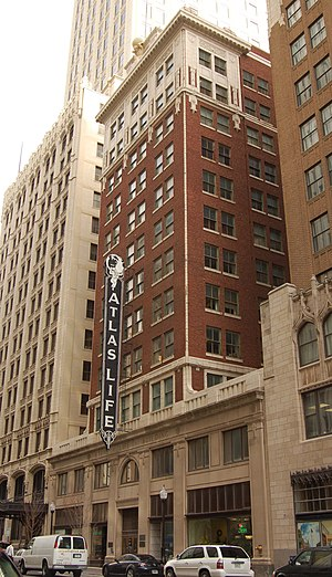 National Register of Historic Places listings in Tulsa County, Oklahoma - Image: Atlas Life Building Tulsa