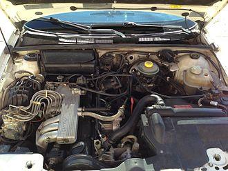 Straight-five engine - An Audi 2.3 NG engine, mounted longitudinally