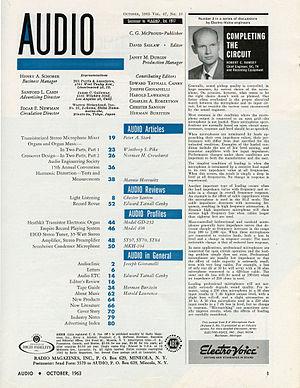 Audio (magazine) - Image: Audio Oct 1963 pg 01