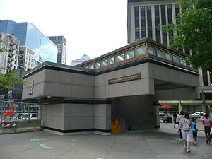 Gateway (PAT station) - Original Gateway Center Station entrance, prior to its closure.
