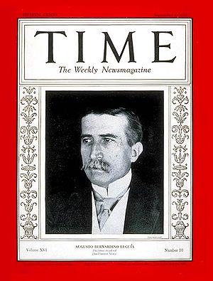 Augusto B. Leguía - Leguía portrayed on the cover of Time (1930)