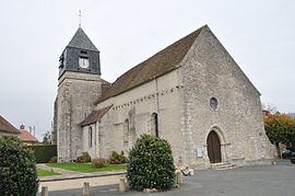 The church in Aulnay-la-Rivière