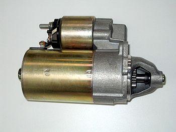 Motor de partida de un automóvil
