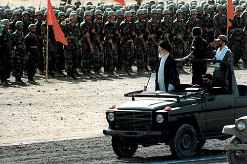 Supreme Leader Ali Khamenei, the commander-in-chief of the Iranian Armed Forces Ayatollah Ali Khamenei at the military parade.jpg