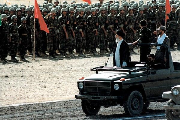 Ayatollah Ali Khamenei at the military parade