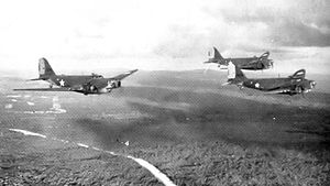 25th Tactical Reconnaissance Wing - B-18s of the 12th Bombardment Squadron flying over British Guiana