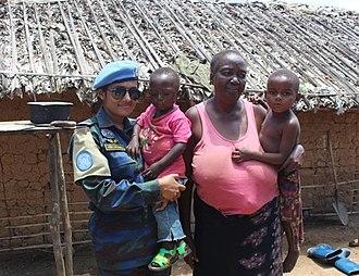 Bangladesh UN Peacekeeping Force - Image: BANAIR 13 Mambasa Democratic Republic Congo