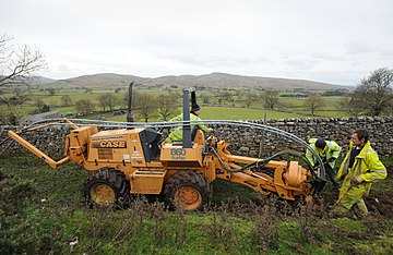 Connecting Cumbria is one of many projects to bring fibre broadband to the North. BDUK Cumbria Fell End21 (14040070556).jpg