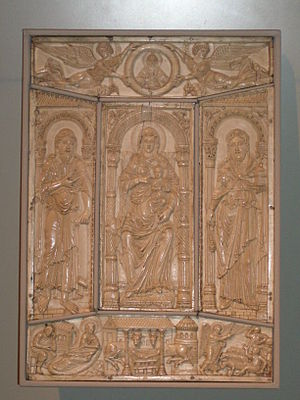 Codex Aureus of Lorsch - Image: BLW Front Cover of the Lorsch Gospels