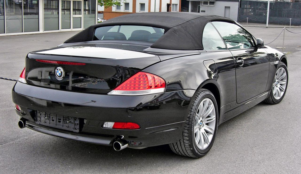 file bmw 645i 20090525 rear jpg wikipedia. Black Bedroom Furniture Sets. Home Design Ideas