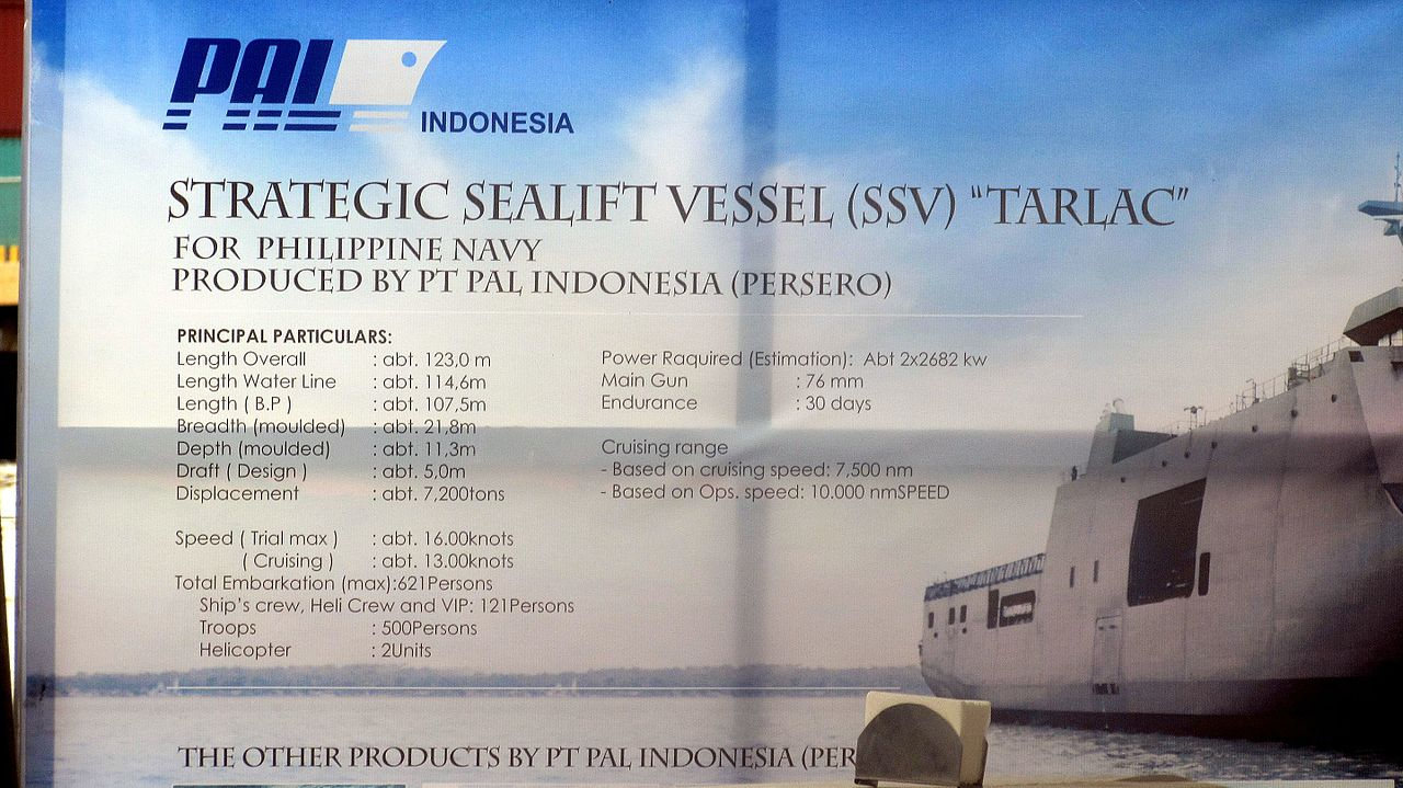 BRP Tarlac Technical Specifications (Arrival Ceremony).JPG