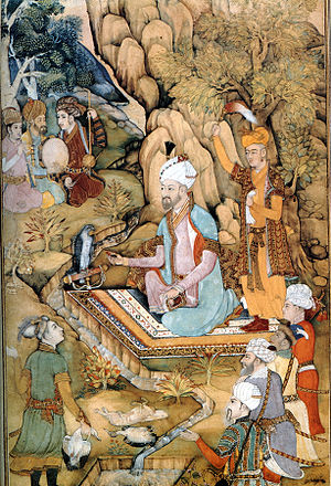 Hindal Mirza - Hindal's father, Emperor Babur, the founder of the Mughal Empire