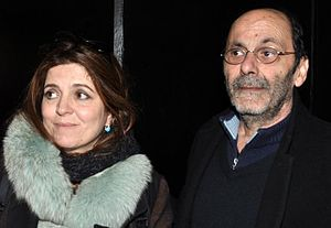Agnès Jaoui - Jaoui and Jean-Pierre Bacri in 2013 at the première showing of Au bout du conte.