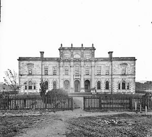 Union Theological College - The building, circa 1860-1880.